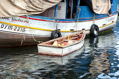 Photograph - Floating Market by Allen Carroll
