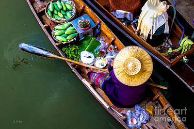 Photograph - Floating Market Bangkok by Rene Triay Photography