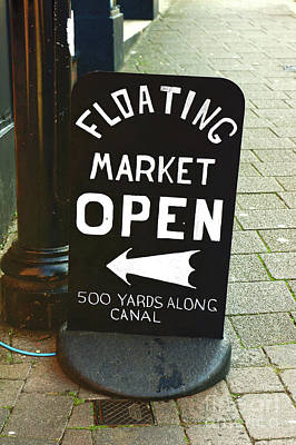 Photograph - Floating Market Sign by Tom Gowanlock