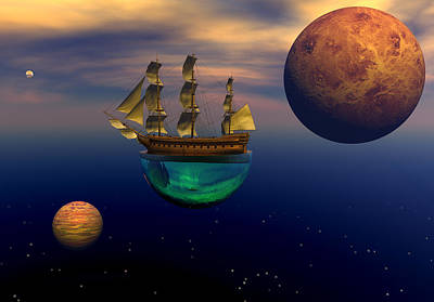 Floating On A Dream Art Print by Claude McCoy