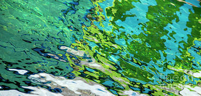Photograph - Floating On Blue 49 by Wendy Wilton
