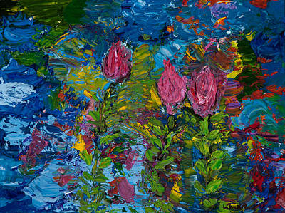 Floating On Water Art Print
