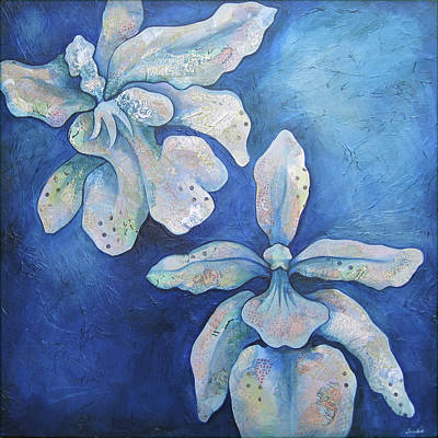 Surreal Painting - Floating Orchid by Shadia Derbyshire