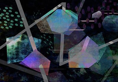 Digital Art - Floating Original Abstract Art by Ann Powell