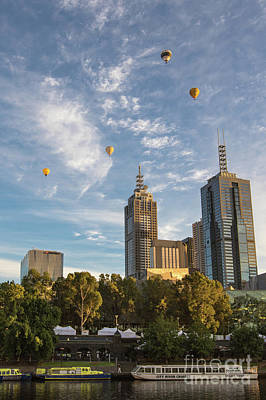 Photograph - Floating Over Melbourne by Howard Ferrier