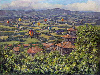 Painting - Floating Over The Valdichianna, Tuscany by Kristen Olson Stone
