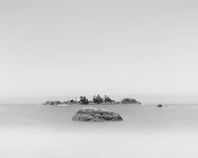 Minimalist Photograph - Floating Rock by Joseph Smith