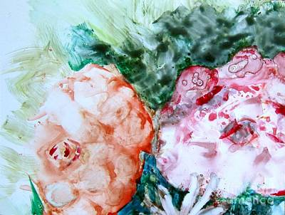 Painting - Floating Roses by Laurie Morgan