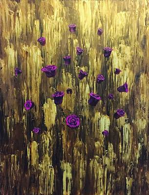 Painting - Floating Royal Roses 1 by Chris Bishop