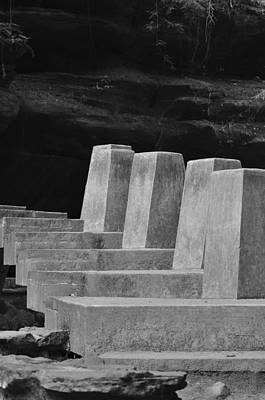 Floating Stone Staircase Art Print by Peter  McIntosh