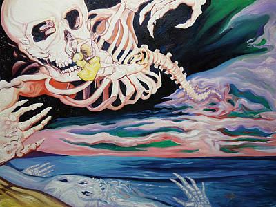 Floating Through Art Print