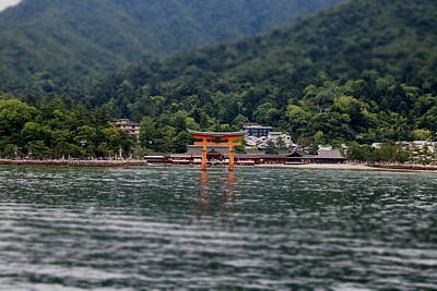 Floating Torii Photograph - Floating Torii Gate - Distance by Perggals - Stacey Turner