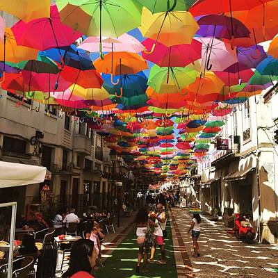 Photograph - Floating Umbrellas 2016 by Alexandre Martins