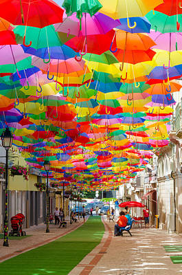 Photograph - Floating Umbrellas by Alexandre Martins