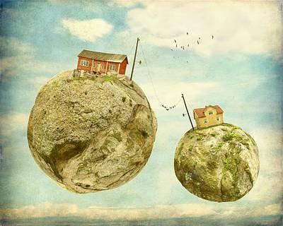 Floating Village Print by Sonya Kanelstrand