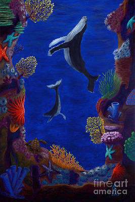 Painting - Floating Whales by Rebecca Parker