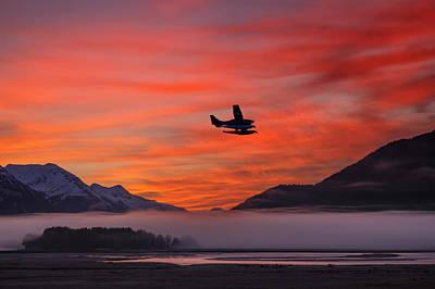 Floatplane Takes Off From Juneau Art Print