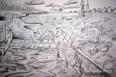Hollywood Style - Floats Boats Drawing by Timothy Michael Foley
