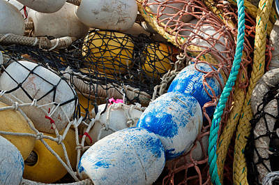 Photograph - Floats Nets And Lines by Cathy Mahnke