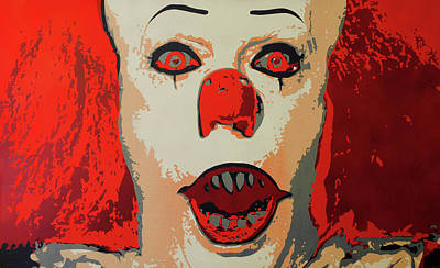 Tim Curry Painting - Floaty by Ryan Borella
