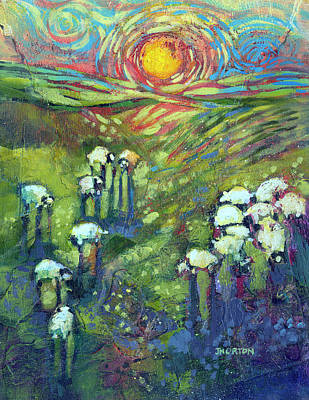 Rising Painting - Flock In The Promised Land by Jen Norton