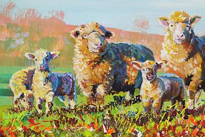 Painting - Flock Of Sheep Painting by Mike Jory