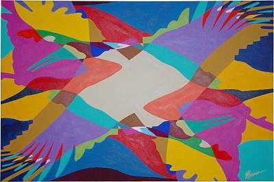Flock Of Wings Art Print by Guadalupe Herrera