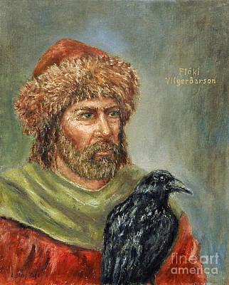 Painting - Floki Vilgerdarson by Arturas Slapsys