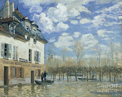 Flood At Port-marly Print by Celestial Images