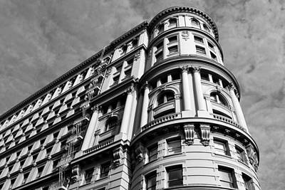 Photograph - Flood Building - San Francisco - Long View - Black And White by Matt Harang