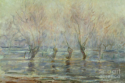 Painting - Flood In Giverny by Claude Monet