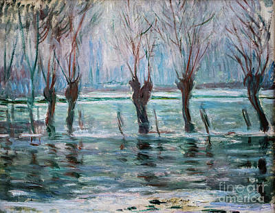 Painting - Flood Water by Claude Monet