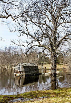 Photograph - Flooded Boathouse At The Old Manse by Betty Denise