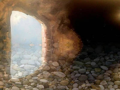 Mixed Media - Flooded Cave by Gary Smith