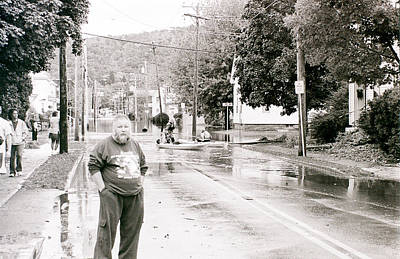 Flooded Streets Of Despair Art Print by Jeff Porter