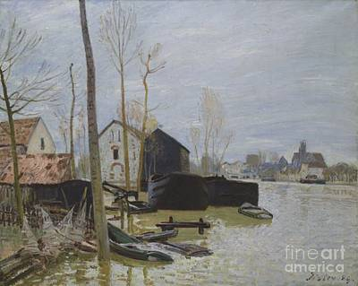 Flooding Painting - Flooding At Moret by MotionAge Designs