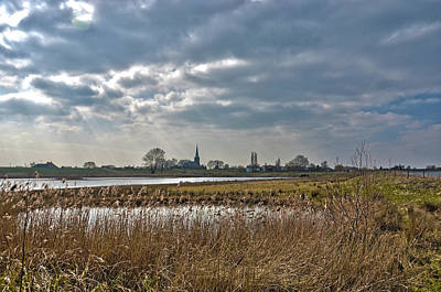 Floodplains Near Culemborg Art Print by Frans Blok