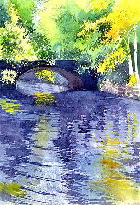 Abstract Reflection Painting - Floods by Anil Nene