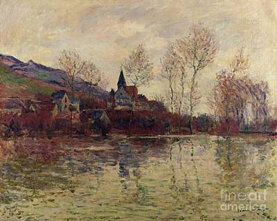 River Flooding Painting - Floods At Giverny by Claude Monet