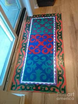 Painting - Floor Cloth Arabesque by Judith Espinoza