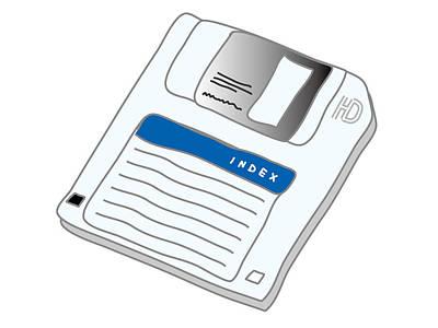 Digital Art - Floppy Disk by Moto-hal