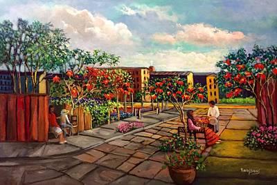 Puebla Painting - Flor De Noche Buena by Randy Burns