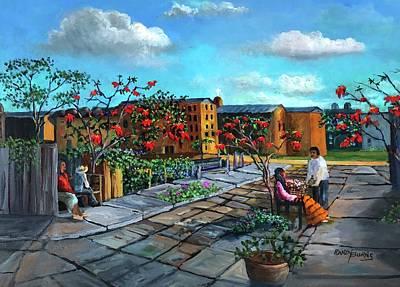 Painting - Flor De Noche Buena by Randy Burns