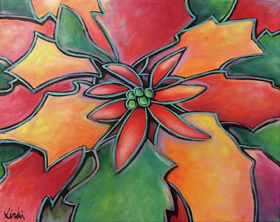 Painting - Flor De Pascua by Lindi Levison