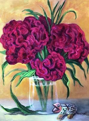 Painting - Flor Que Utiliza Para El Dia De Los Muertos En Mexico by Randol Burns