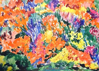 Painting - Flora Ablaze by Esther Newman-Cohen