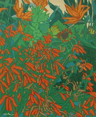 Fauna Painting - Flora And Fauna by Malcolm Warrilow