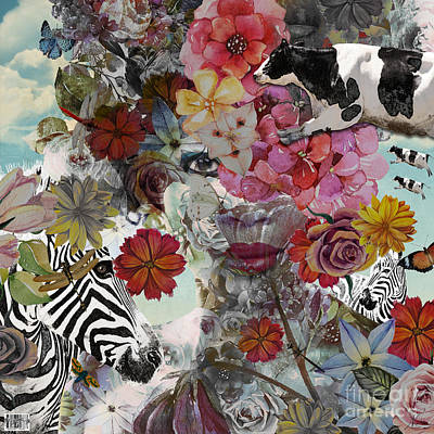 Digital Art - Flora And Fauna by Nola Lee Kelsey
