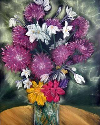 Flora Aura   Pastel Art Print