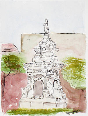 Painting - Flora Fountain by Keshava Shukla